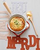 Potato crisp omelette