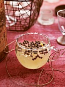 Russian lemon jelly with chocolate drops
