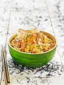 Vegetable, pork and raw ham Yakisoba