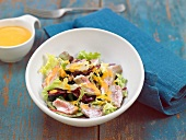 Red mullet mixed salad with tomato vinaigrette