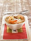Vermicellis, shiitake and shrimp soup
