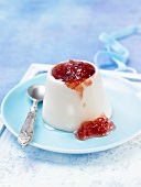 Panna cotta with quince jelly