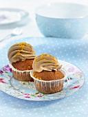 Orange-licorice cupcakes