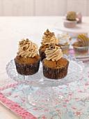 Pumpkin-walnut cupcakes