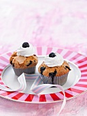 Bilberry cupcakes