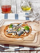 Sardine pizza