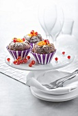 Chocolate and fruit cupcakes