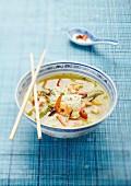 Noodle and shrimp soup
