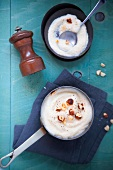 Jerusalem artichoke puree with hazelnuts