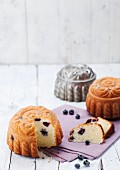 Small blueberry cakes