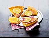 Thin orange tart