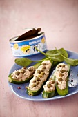 Zucchinis garnished with potted tuna Petit Navire