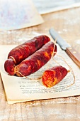 Pork and paprika spanish sausage