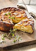 Potato and Reblochon cake