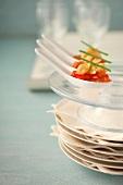 Tomato, raisin and spinach-ricotta crisp ravioli appetizers