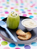Kiwi and pear tartare with custard
