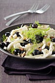 Fennel,goat's cheese,black grape and hazelnut salad