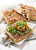 Grisons meat and herb Focaccia by Gontran Cherrier