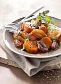 Chicken, sweet potato and date Tajine