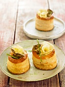 Cream of artichoke and Tête-de-Moine cheese Vol-au-vent