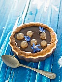 Chocolate and eucalyptus tartlet