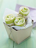 Cucumber and hard-boiled egg wrap