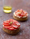 Mini strawberry tartlets