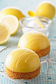 Lemon curd dome tartlets
