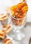 Sweet potato crisps