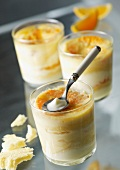 Orange and grapefruit trifle -style dessert