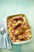 Rabbit and fruit couscous
