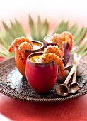 Camarao na moranga,cream of pumpkin soup with shrimps and coconut