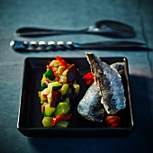 Sardines with southern vegetables