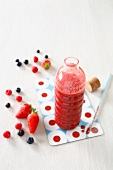 Strawberry,blueberry and raspberry natural antioxidant juice