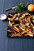 Roasted vegetables with orange zests