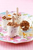 Cheesecake-style ice cream