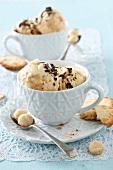 Vanilla,toffee and macadamia nut ice cream