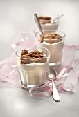Banana ice cream and walnut crumble