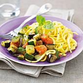Pasta with ratatouille