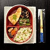 Teriyaki swordfish bento