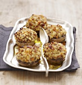Button mushrooms caps stuffed with Fromage frais