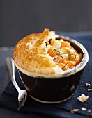 Individual, chicken, Cheddar and carrot pie