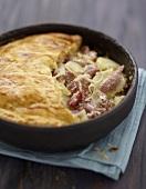 Potato and salt pork pie