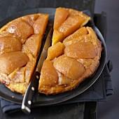 Upside-down apple cake