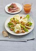 Caesar-Salat mit Tête-de-Moine-Käse
