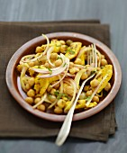 Moroccan-style chickpea salad