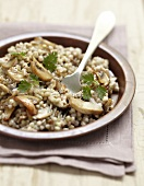 Sauteed buckwheat with mushrooms