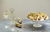 Three different mousse mini savoury Eclairs