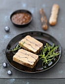 Foie gras terrine with cocoa