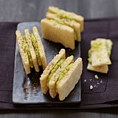 Cracotte and avocado-crab mousse Mille-feuille